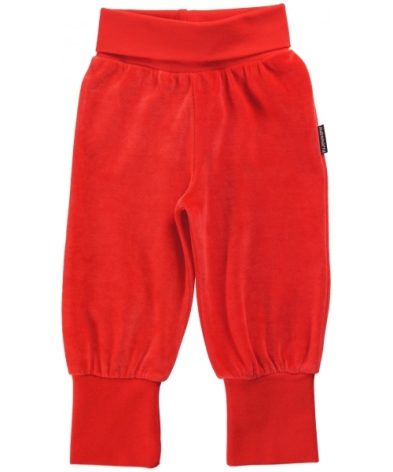 Maxomorra Babypants Velour Red
