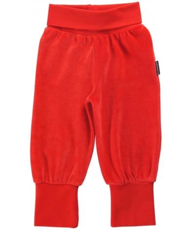 Maxomorra Babypants Velour Red