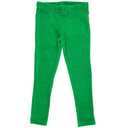 Maxomorra Leggings Velour Green