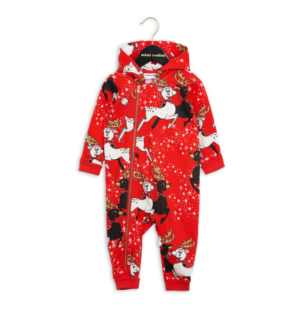 Mini Rodini Reindeer Onsie Red