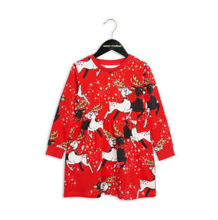 Mini Rodini Reindeer Dress Red
