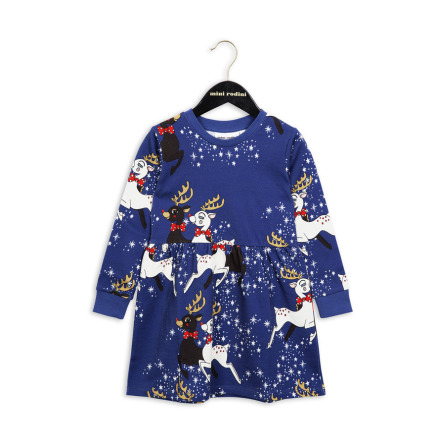 Mini Rodini Reindeer Dress Blue