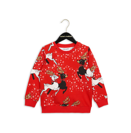 Mini Rodini Reindeer Sweatshirt Red