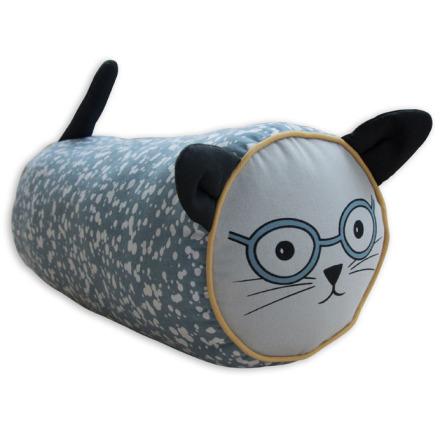 Frank & Poppy Mrs Cat Cushion Petrol