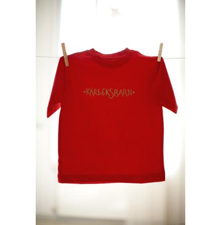 Vildängel t-shirt kärleksbarn röd