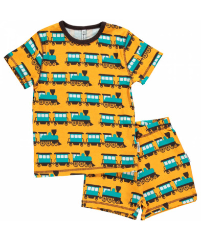 Maxomorra Pyjamas Set SS Train