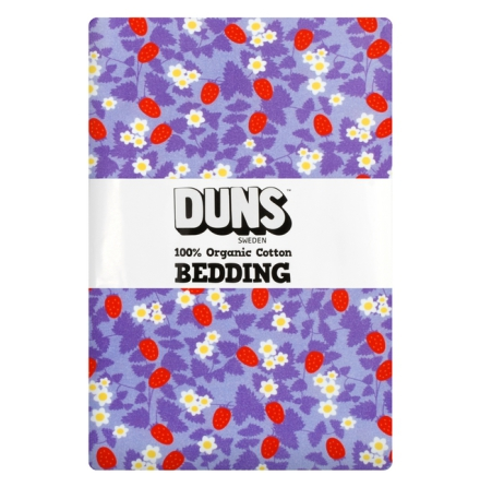 DUNS 2-del Bäddset Junior Strawberry Purple