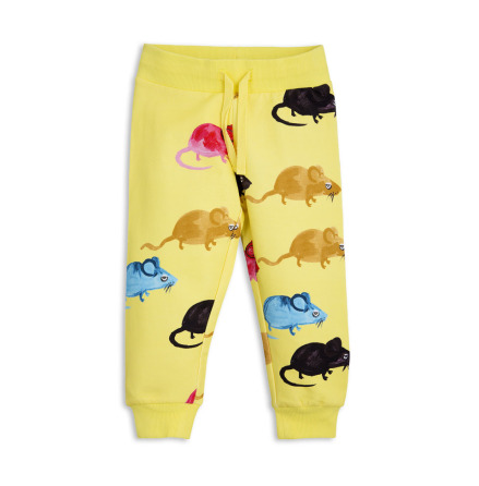 Mini Rodini MR Mouse Sweatpants Yellow