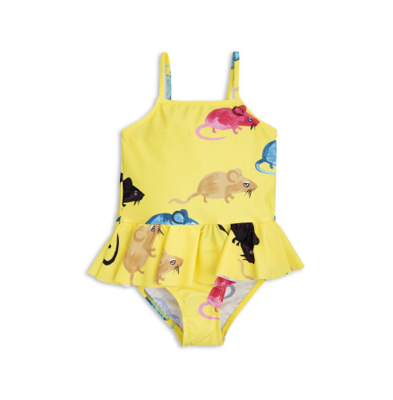 Mini Rodini MR Mouse Skirt Swimsuit Yellow