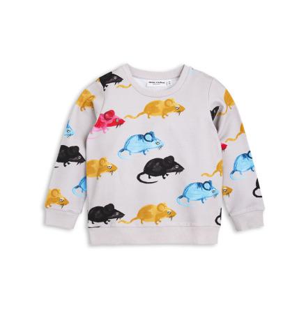 Mini Rodini MR Mouse Sweatshirt Grey