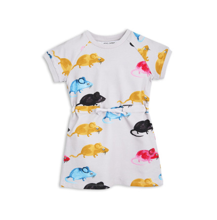 Mini Rodini MR Mouse Sweat Dress Grey