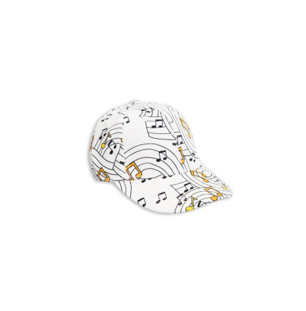 Mini Rodini Music Cap Off White