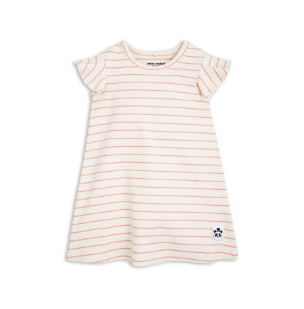 Mini Rodini Stripe Rib Wing Dress Pink