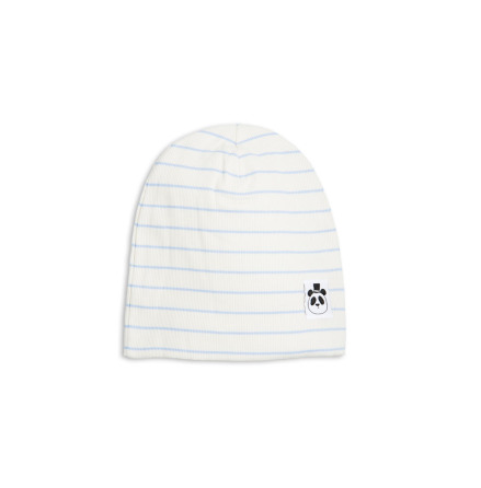 Mini Rodini Stripe Rib Beanie Blue