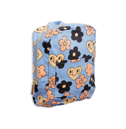 Mini Rodini Flowers Backpack Blue