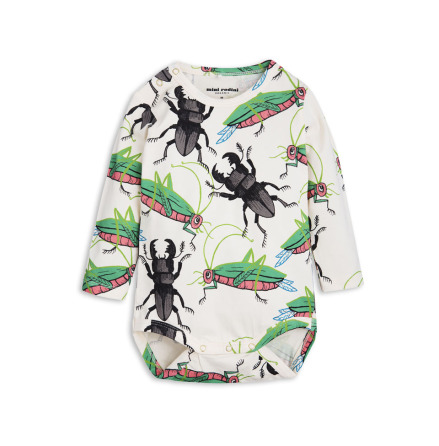 Mini Rodini Insects LS Body Off White