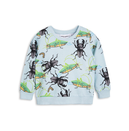 Mini Rodini Insects Sweatshirt Light Blue