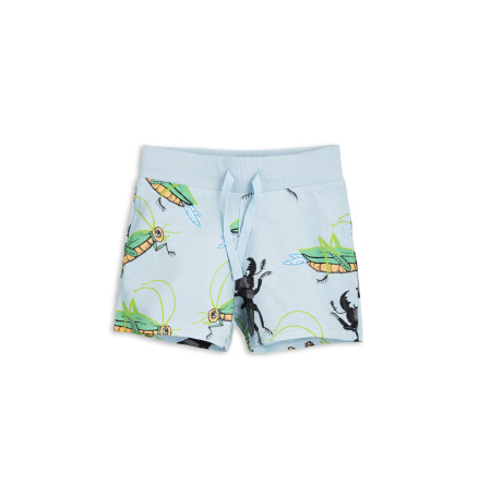 Mini Rodini Insects Sweatshorts Light Blue