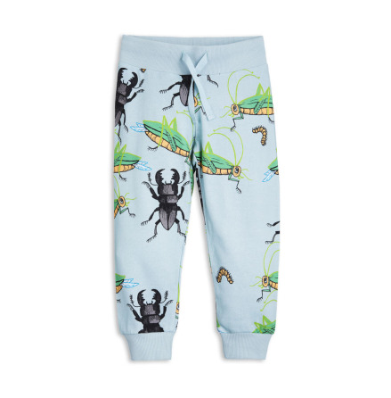 Mini Rodini Insects Sweatpants Light Blue