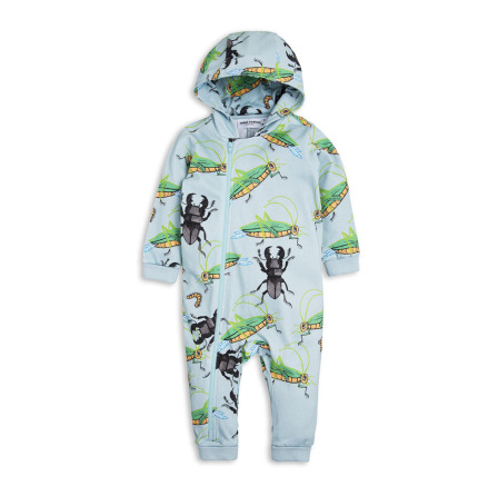 Mini Rodini Insects Onsie Light Blue