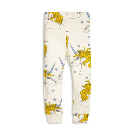 Mini Rodini Unicorn Star Leggings Off White