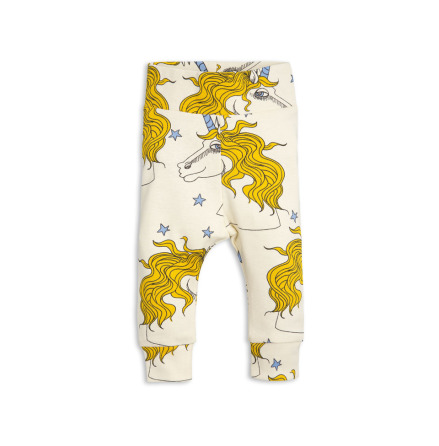 Mini Rodini Unicorn Star NB Leggings Off White