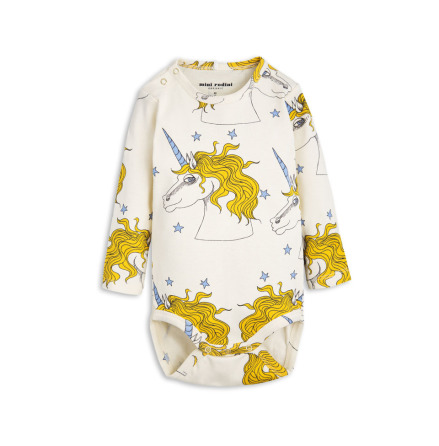 Mini Rodini Unicorn Star LS Body Off White