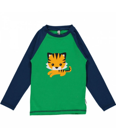 Maxomorra Top LS Print Tiger