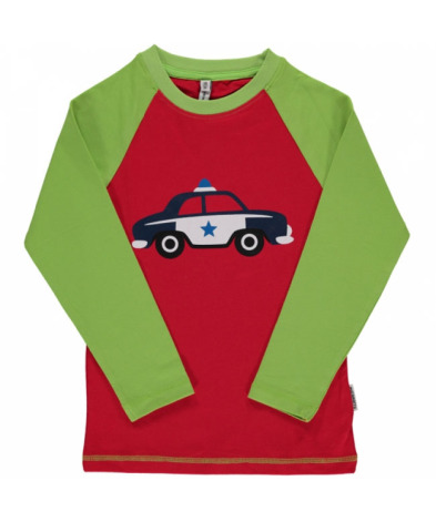Maxomorra Top LS Print Police Car
