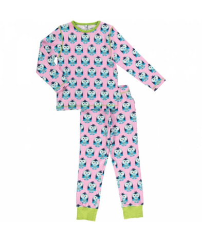 Maxomorra Pyjamas Set LS Owl