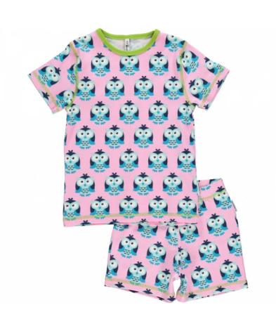 Maxomorra Pyjamas Set SS Owl