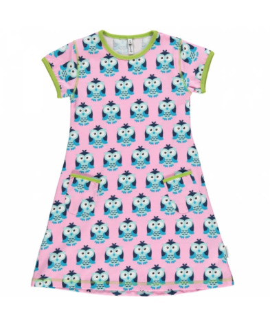 Maxomorra Dress SS Owl
