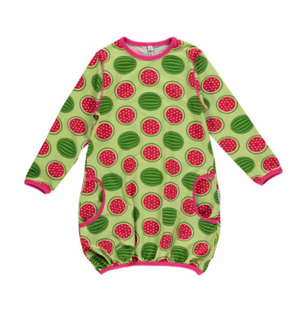 Maxomorra Dress Ballon LS Watermelon