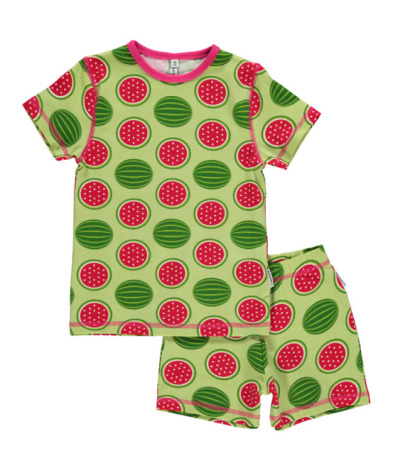 Maxomorra Pyjamas Set SS Watermelon