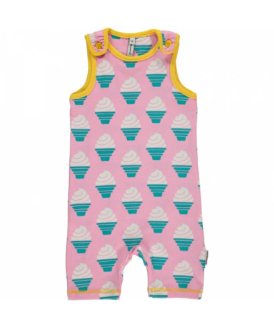 Maxomorra Playsuit Short Icecream