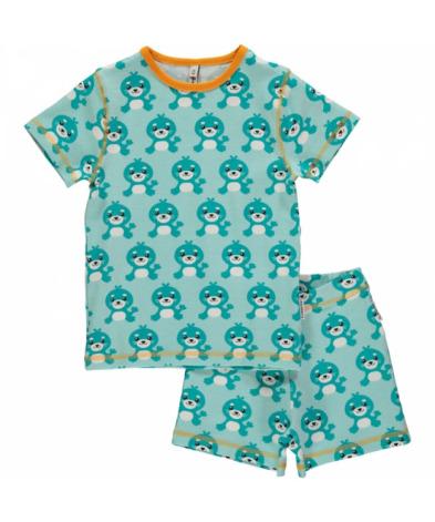 Maxomorra Pyjamas Set SS Seal