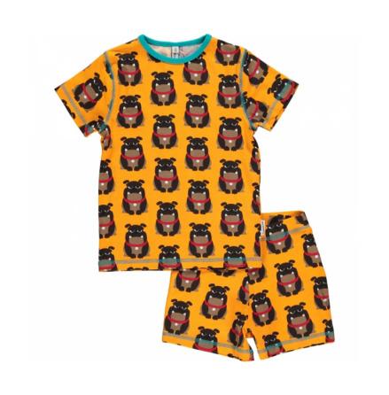 Maxomorra Pyjamas Set SS Bulldog
