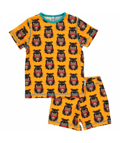 Maxomorra Pyjamas Set SS Bulldog