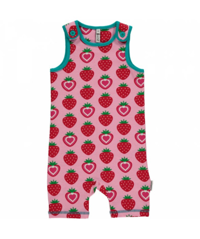 Maxomorra Playsuit Short Strawberry