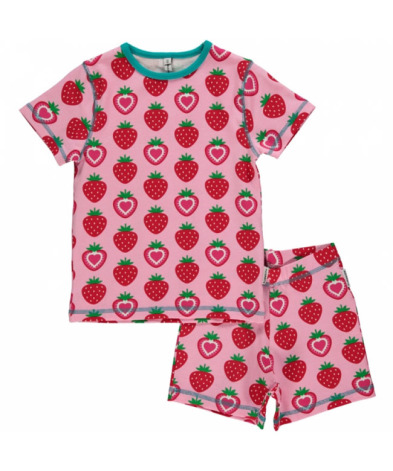 Maxomorra Pyjamas Set SS Strawberry