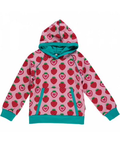 Maxomorra Hoodie Strawberry