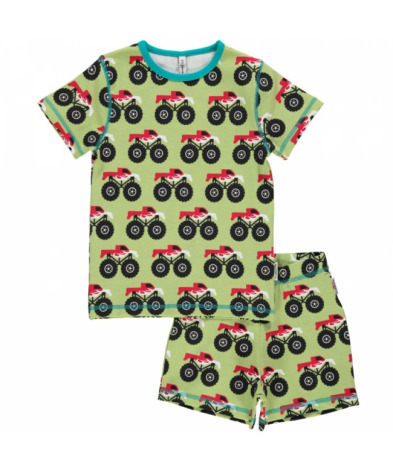 Maxomorra Pyjamas Set SS Monster Trucks