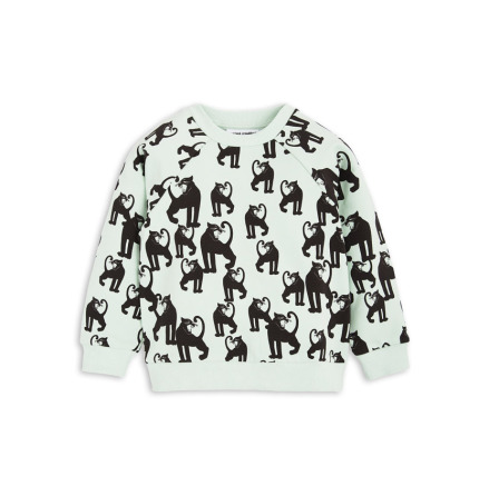 Mini Rodini Panther Sweatshirt Light Green