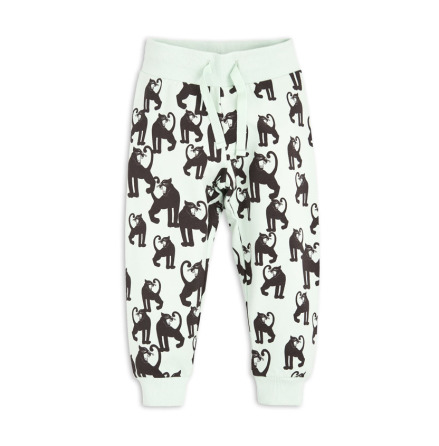 Mini Rodini Panther Sweatpants Light Green