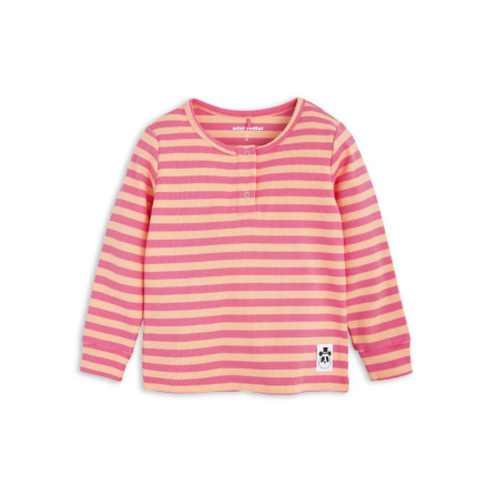 Mini Rodini Stripe Rib Grandpa Pink