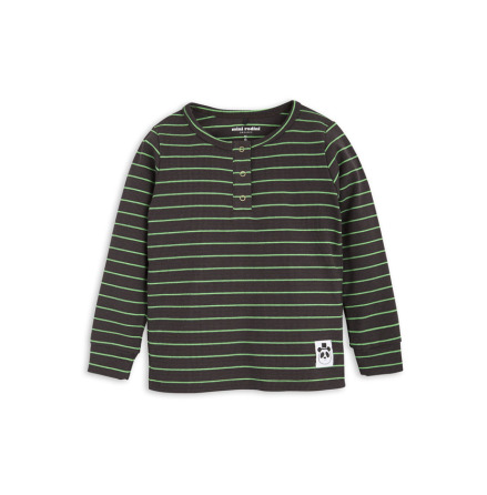Mini Rodini Stripe Rib Grandpa Black