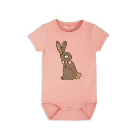 Mini Rodini Rabit SS Body Pink