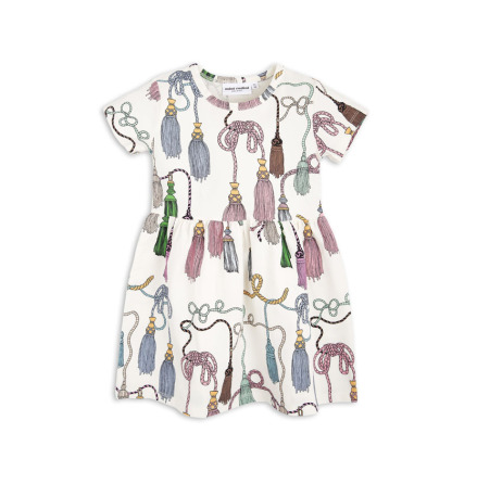 Mini Rodini Tassels Dress Off White