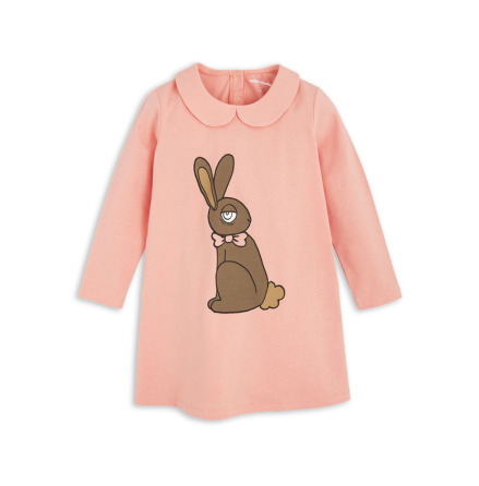 Mini Rodini Rabbit Collar Dress Pink