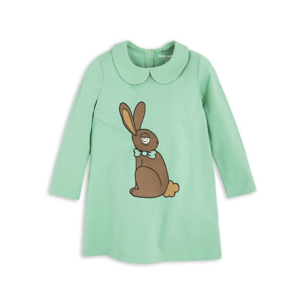 Mini Rodini Rabbit Collar Dress Green